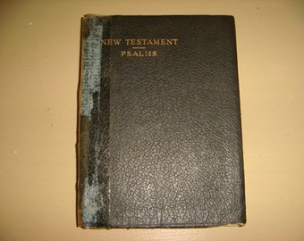 1958 New Testament   Psalms Book Bible Printed in Great Britain