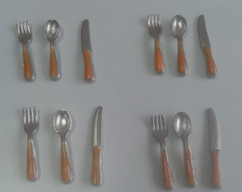 Dollhouse Miniature Home Decoration cutlery utensils