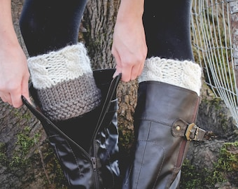 Reversible Boot Cuffs // Knit Boot Cuffs // Two in One Design // Leg Warmers // Cable Knit // Pinterest Favorite // Fashion Accessory