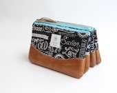 King of Kings Clutch Purse, Vegan Leather Trim, Bridesmaid Gift, Cosmetic Bag, Scripture Pouch