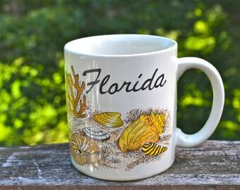 Florida Seashell Mug New Old Stock  - VC165