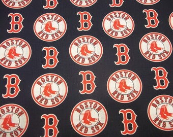 BOSTON RED SOX - Mlb  Baseball   Fabric 1/2  Yard  New All Sport  Designs  100% Cotton  New Design