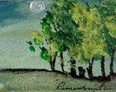 Moonglow - ACEO - original - FREE SHIPPING