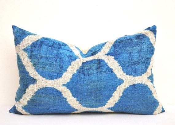 Royal Velvet Decorative Pillows : Royal blue throw Pillow Decorative Pillow by EasternHomeDecor