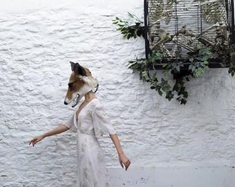 Vixen/Fox hand felted headdress/mask