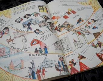 SPRING SALE--The Little History of the Wide World Kids Book, 1947, by Mable Pyne
