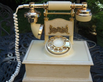 SALE--Retro Telephone, French Style, Rotary Dial, Works Well