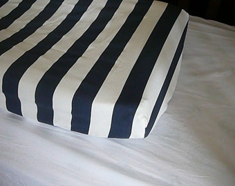 Navy Stripe Changing Pad Cover