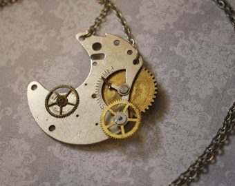 Clockwork Moon Necklace