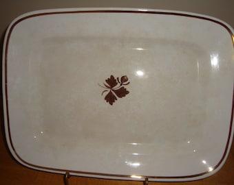 "Antique Ironstone Alfred Meakin Tea Leaf 15.75"" Serving Platter Royal Ironstone 1891-1897 mfg date"