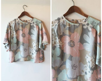 Floral oversized Women's blouse
