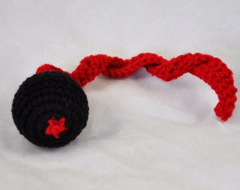 NFL Atlanta Falcons - Crochet Cat Toy - Jingle Ball Snake - Arizona Cardinals Cat Toy - Homemade Cat Toy - Unique Cat Toys - Cat Ball - L3