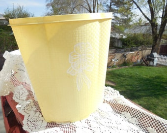 Pretty Bright Yellow Waste Basket /Garbage Can
