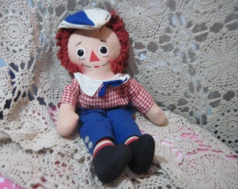 Vintage Raggedy Andy Doll By Knickerbocker 15 inches Tall :)S