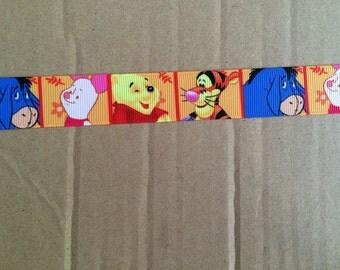 """1"""" Grosgrain Winnie the pooh Ribbon"""