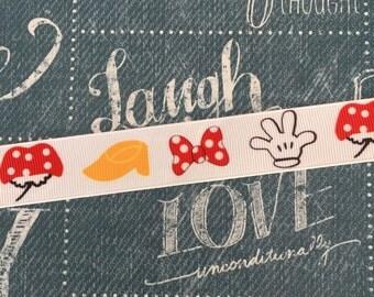 """7/8"""" Grosgrain Minnie Mouse Ribbon"""