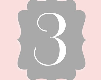 5x5 Wedding Table Numbers - DIY Printable Wedding Table Numbers - PDF Instant download