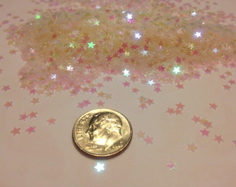 Tiny iridescent star  confetti , 3 mm (17)