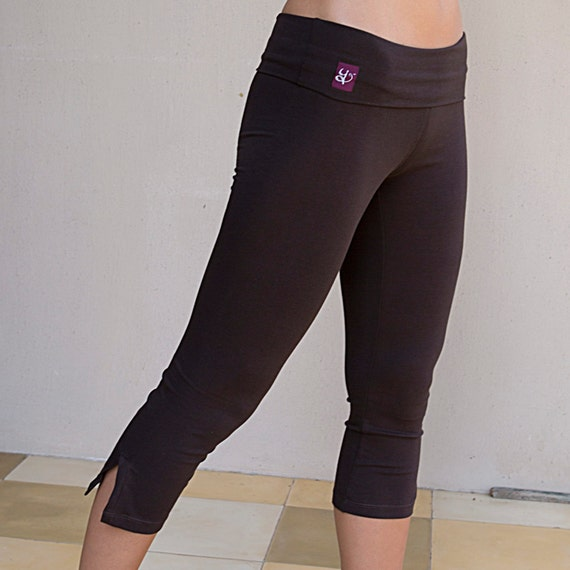 ON SALE: 20% OFF! Womens Yoga Pants - Simple Cotton Capri Yoga Clothes Leggings
