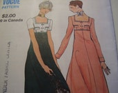 Vintage 1970's Miss Vogue 8004 Dress Sewing Pattern, Size 10, Bust 32 1/2