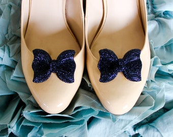 Sparkling Bow Shoe Clips