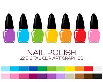 Nail Polish Clipart Fashion Clipart Spa Clipart Shopping Clipart Boutique Clipart Girl Clipart Digital Clipart Instant Download - A00142