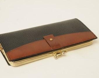 Vintage Lady Buxton Leather Wallet Plaid