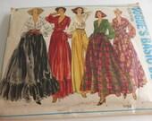Vintage Vogue Basic Design 1768  Misses Size 8 Blouse, Skirt and Culottes