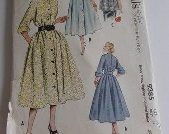 Vintage McCalls Pattern 9385  Misses Dress Negligee or Unlined Jacket Size 16