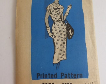 Vintage Mail Order Pattern 9279  Dress Size 14 1/2