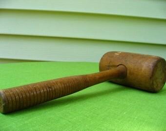 wooded mallet vintage antique primitave cottage kitchen rustic