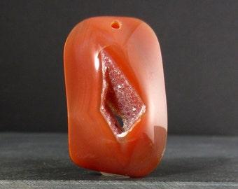 Beautiful druzy pendant, Large pendant B5147