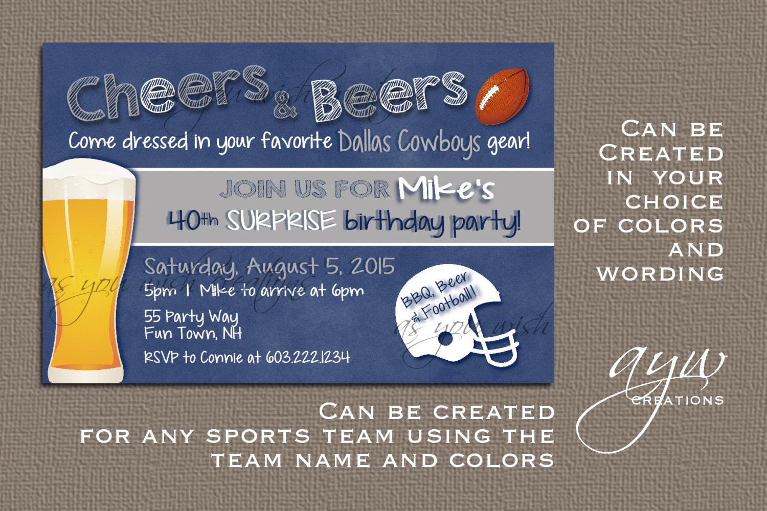 Dallas Cowboys Party Invitations wedding table setup – Dallas Cowboys Birthday Invitations