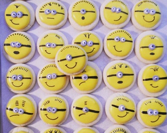 Mini Minion Cookies