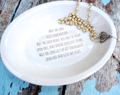 Pottery Gifts for Godparents, Personalized Jewelry Dish, Ring Dish, Baptismal Gift, Religious Gift