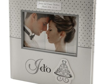 Engraved I Do Wedding Photo Album