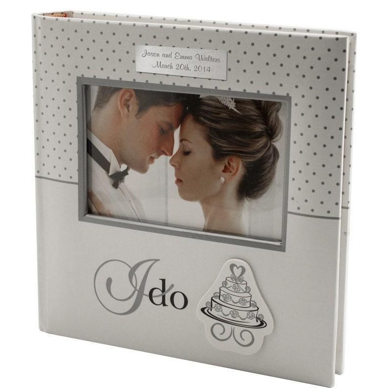 Personalised Wedding Photo Albums: Engraved I Do Wedding Photo Album