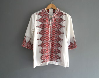 White Cotton Kaftan Top XS