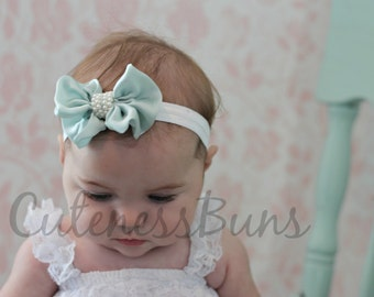 baby Girl headband, newborn headband, baby headband, vintage baby girl headband, Hairbow, Baby Bow, baby girl Headband with pearls, headband