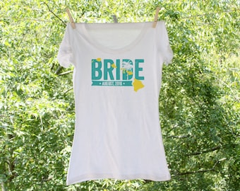 Hawaii Bride (can personalize with wedding colors) - Scoop, Vneck or Tank - TW