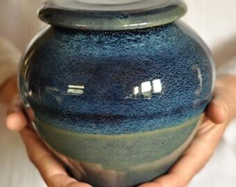 Blue Galaxy Urn, Medium