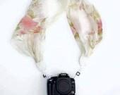 DSLR Camera Strap / Camera Scarf Strap / Romantic Scarf / Silk Scarf / Sequin Scarf / Accessory