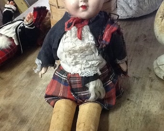 1910's Composition Scottish Doll