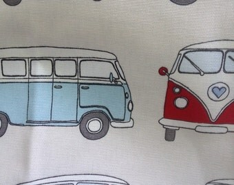 Camper van cotton fabric