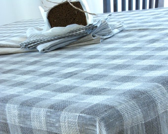 Linen Tablecloth / Chequered