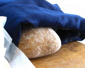 Linen Bread Bags / Navy