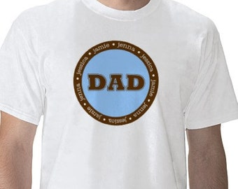 Fathers Day Shirt SHORT SLEEVE Personalized Father's Day Dad Grandpa T Shirt Mens Tee High Quality TShirt T-Shirt