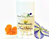 Nag Champa Deodorant Natural- Organic Deodorant Stick with Tea Tree Oil and Organic Coconut Oil - Homemade Deodorant Tube