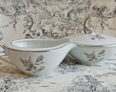 Mid Century Noritake cream and sugar service…cream pot, sugar bowl...Noritake Margot.