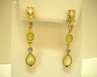 Vintage Pierced Dangle Earrings (1218)